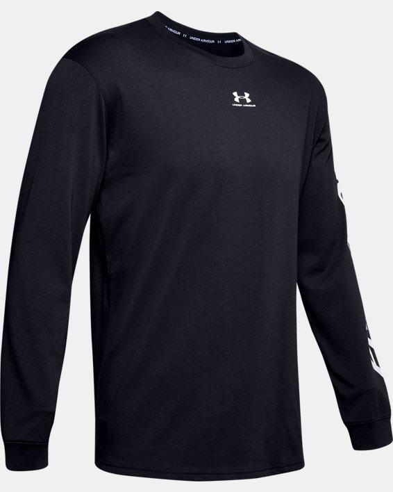 Mens's UA PTH Long Sleeve, Black, pdpMainDesktop image number 4