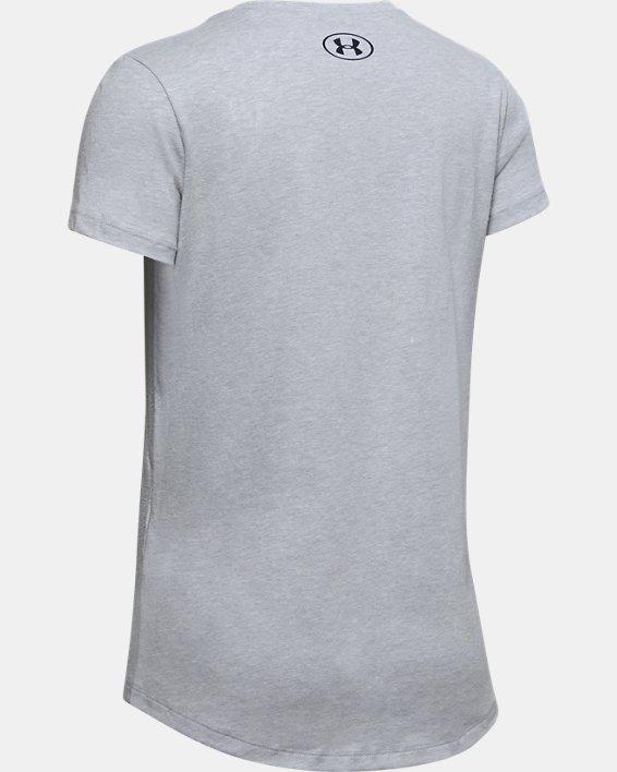 Girls' UA Print Fill Graphic T-Shirt, Gray, pdpMainDesktop image number 1