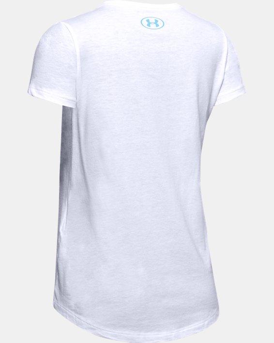 Girls' UA Athlete Graphic T-Shirt, White, pdpMainDesktop image number 5