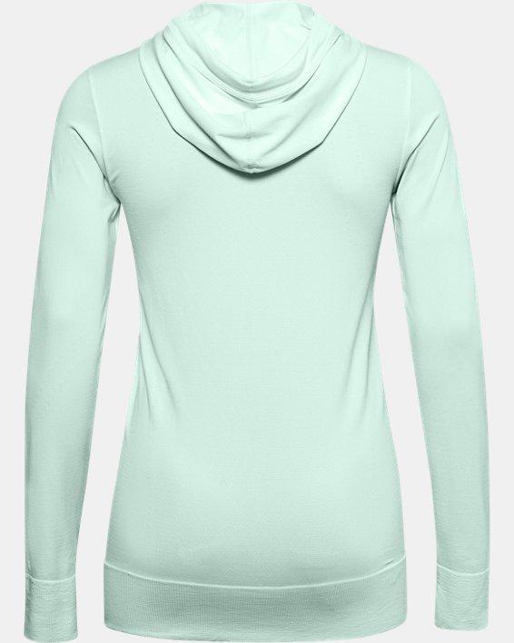 Sweat à capuche UA Seamless pour femme, Blue, pdpMainDesktop image number 4