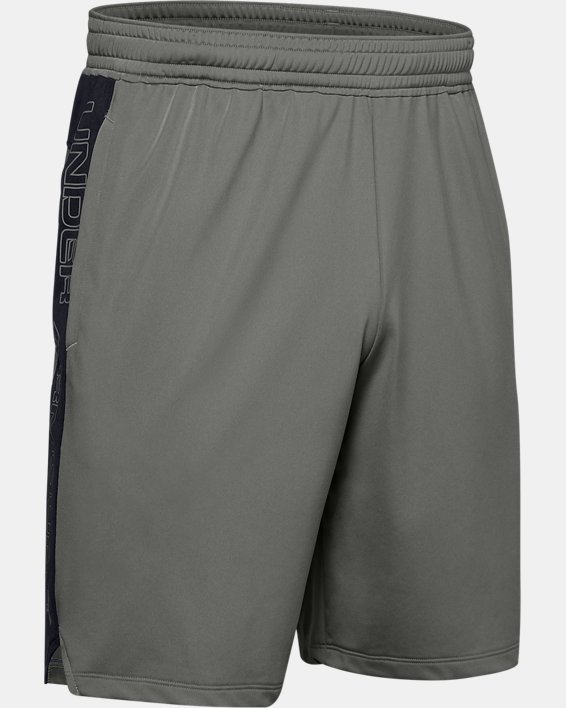 Short UA MK-1 Graphic pour homme, Green, pdpMainDesktop image number 4