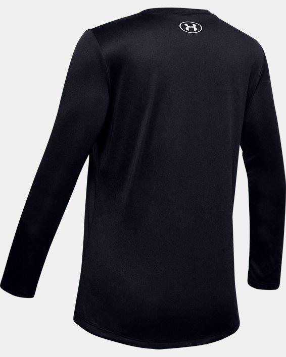 Girls' UA Big Logo Long Sleeve, Black, pdpMainDesktop image number 1