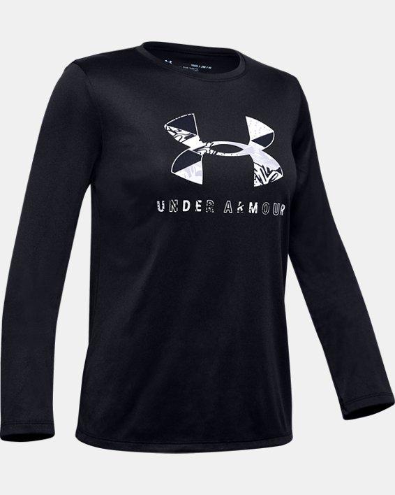 Girls' UA Big Logo Long Sleeve, Black, pdpMainDesktop image number 0