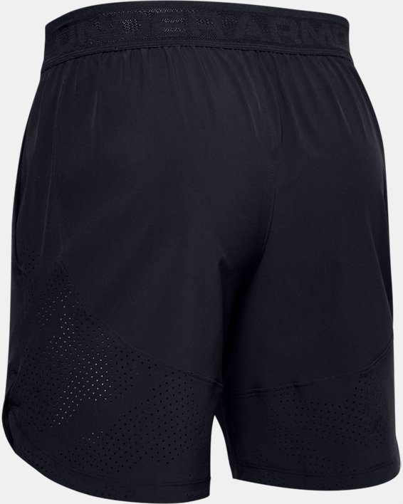 Short UA Stretch Woven pour homme, Black, pdpMainDesktop image number 4