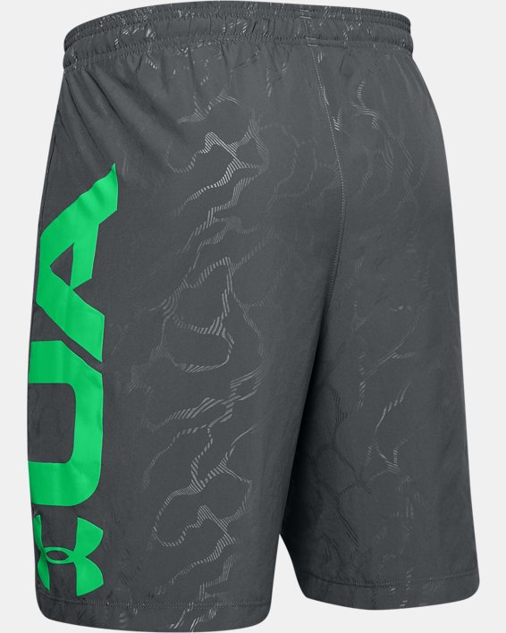 Men's UA Woven Graphic Emboss Shorts, Gray, pdpMainDesktop image number 5