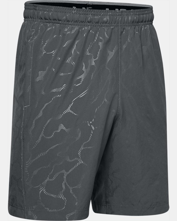 Men's UA Woven Graphic Emboss Shorts, Gray, pdpMainDesktop image number 4