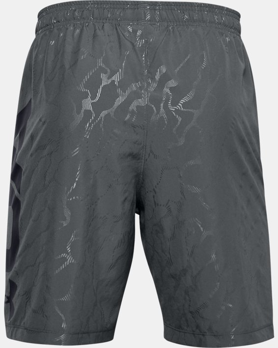 Men's UA Woven Graphic Emboss Shorts, Gray, pdpMainDesktop image number 4