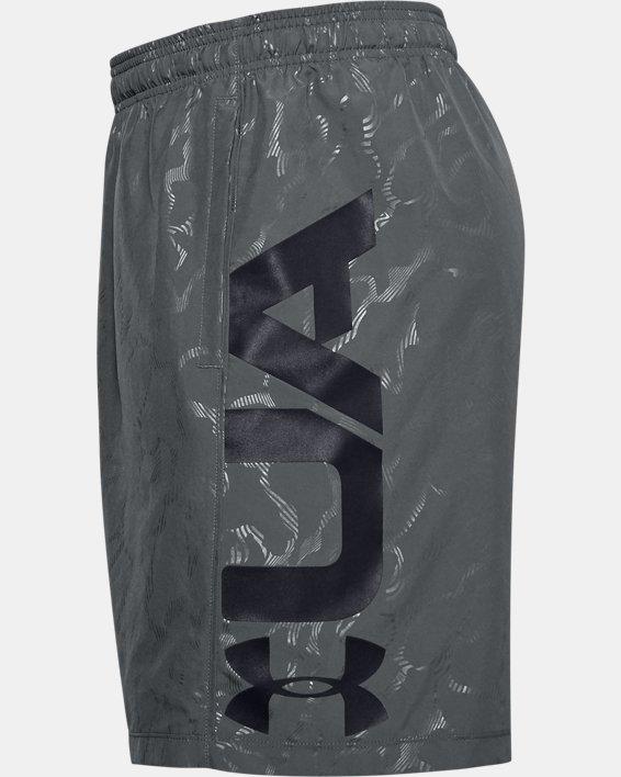 Men's UA Woven Graphic Emboss Shorts, Gray, pdpMainDesktop image number 5