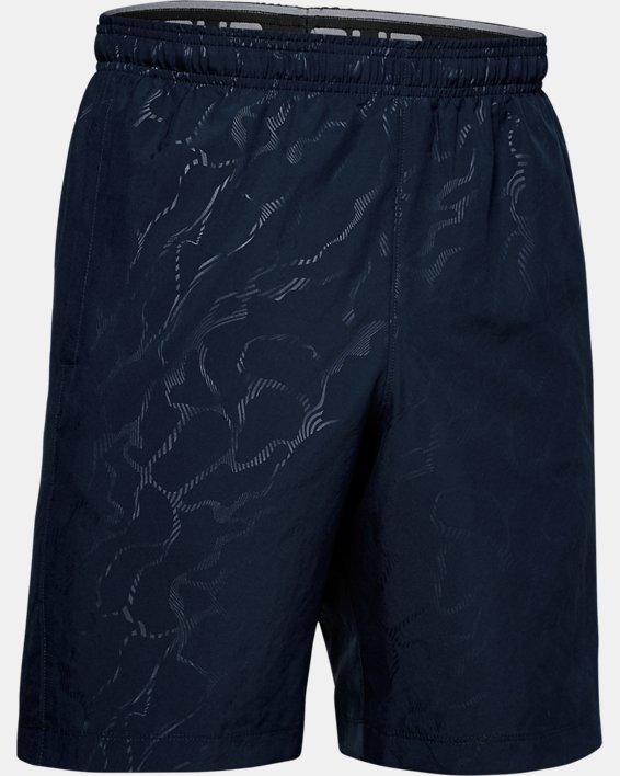 Men's UA Woven Graphic Emboss Shorts, Navy, pdpMainDesktop image number 4