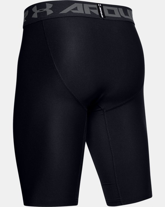 Men's HeatGear® Armour Extra Long Shorts, Black, pdpMainDesktop image number 5