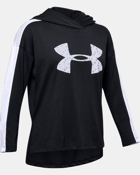 Girls' UA Favorite Jersey Hoodie, Black, pdpMainDesktop image number 0