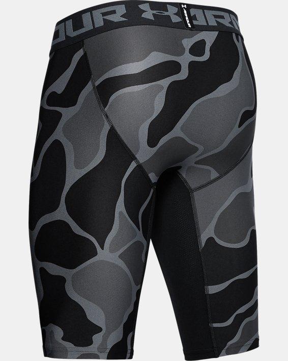 Men's HeatGear® Armour Extra Long Printed Shorts, Black, pdpMainDesktop image number 5