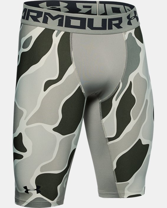 Short HeatGear® Armour Extra Long Printed pour homme, Green, pdpMainDesktop image number 4