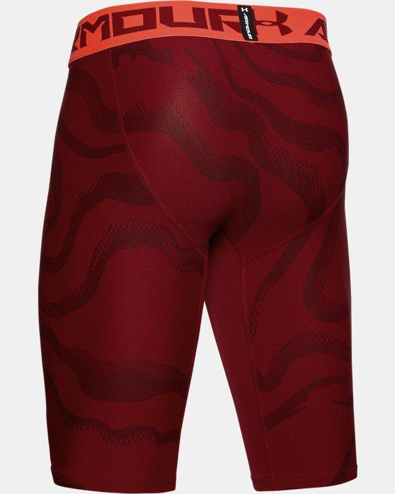 Men's HeatGear® Armour Extra Long Printed Shorts, Red, pdpMainDesktop image number 5