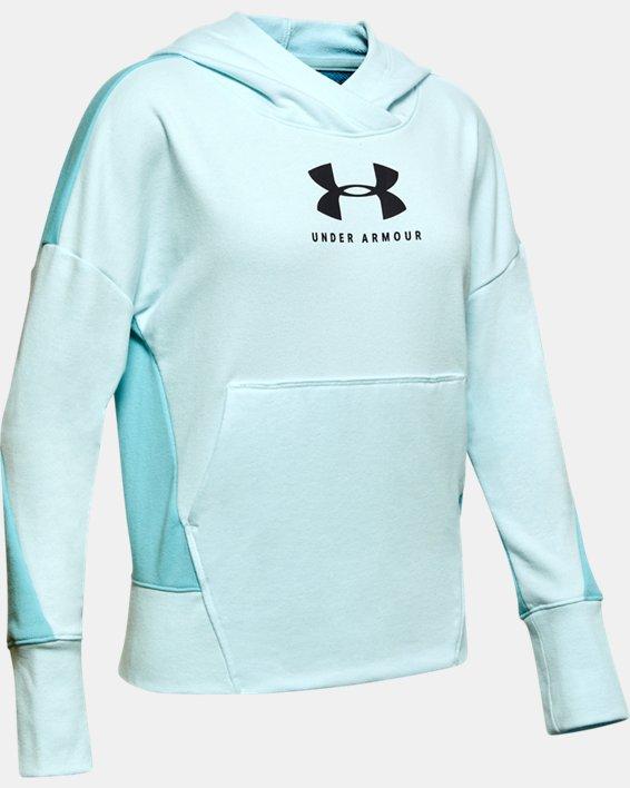 Girls' UA Sportstyle Terry Hoodie, Blue, pdpMainDesktop image number 0