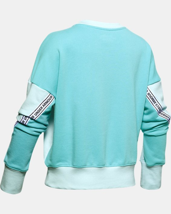 Girls' UA Sportstyle Terry Crew, Blue, pdpMainDesktop image number 1