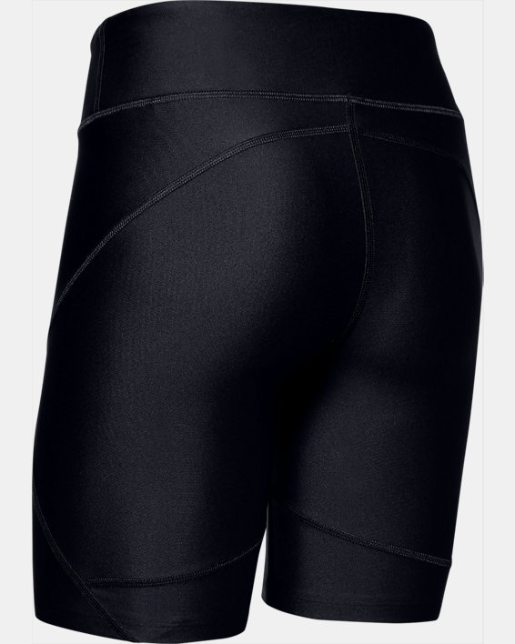 Women's HeatGear® Armour Bike Shorts, Black, pdpMainDesktop image number 4