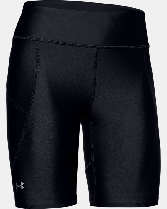 Women's HeatGear® Armour Bike Shorts, Black, pdpMainDesktop image number 3