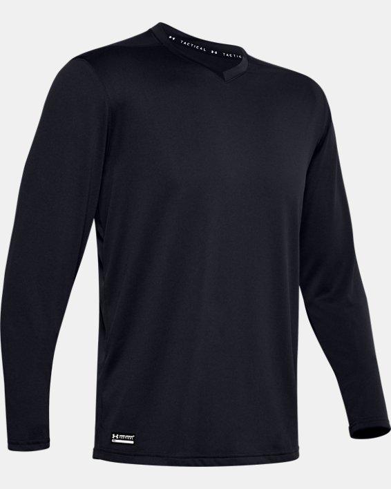 Men's UA Tactical V-Neck Long Sleeve, Black, pdpMainDesktop image number 4