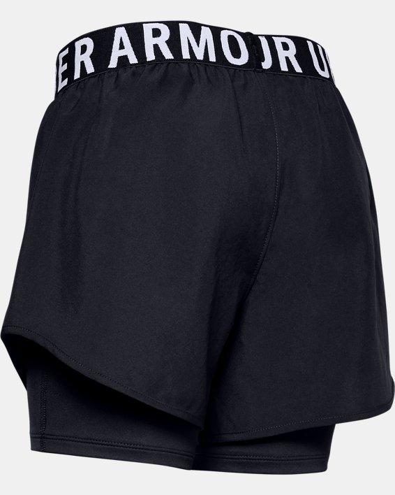 Girls' HeatGear® Armour 2-in-1 Shorts, Black, pdpMainDesktop image number 1