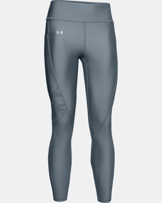 Women's HeatGear® Armour C&S Jacquard Ankle Crop, Green, pdpMainDesktop image number 3