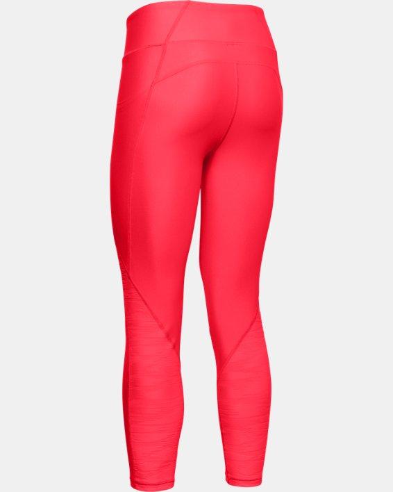 Women's HeatGear® Armour C&S Jacquard Ankle Crop, Red, pdpMainDesktop image number 3