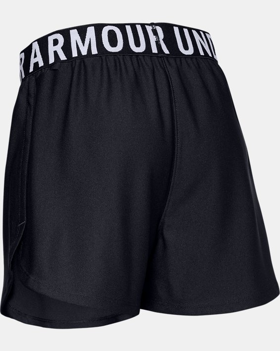 Girls' UA Play Up Solid Shorts, Black, pdpMainDesktop image number 1