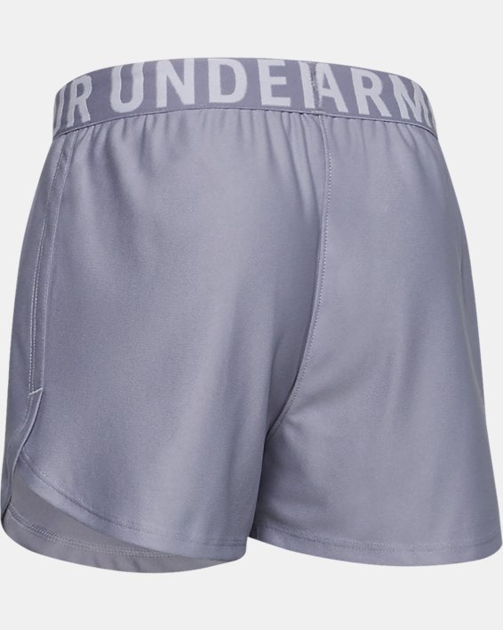Girls' UA Play Up Solid Shorts, Purple, pdpMainDesktop image number 1