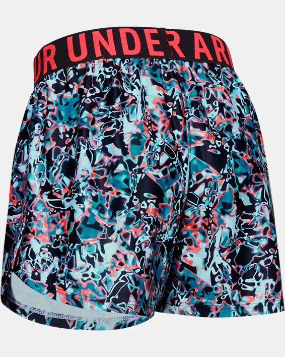Girls' UA Play Up Printed Shorts, Black, pdpMainDesktop image number 1