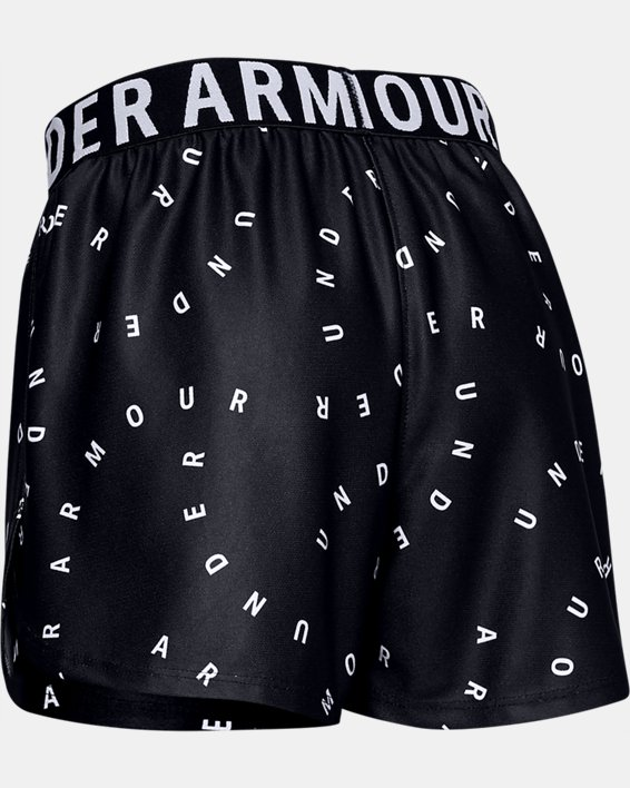 Girls' UA Play Up Printed Shorts, Black, pdpMainDesktop image number 1