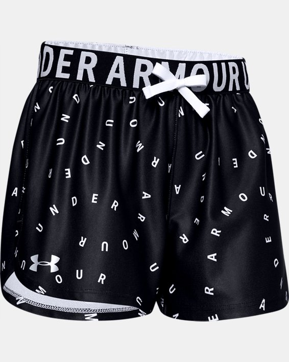 Girls' UA Play Up Printed Shorts, Black, pdpMainDesktop image number 0