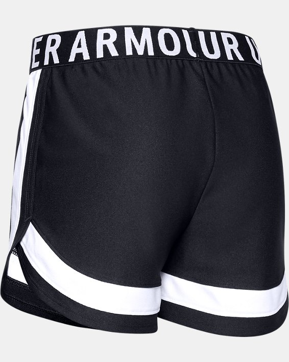 Girls' UA Play Up Novelty Shorts, Black, pdpMainDesktop image number 1