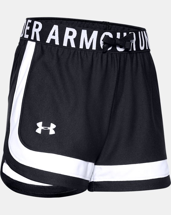 Girls' UA Play Up Novelty Shorts, Black, pdpMainDesktop image number 0