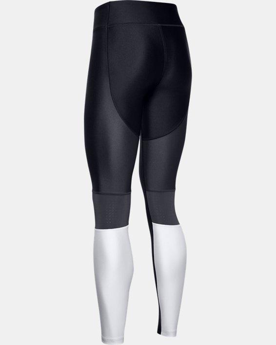Women's HeatGear® Armour Perf Inset Graphic Leggings, Black, pdpMainDesktop image number 5