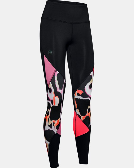 Legging UA RUSH™ Print Color Block pour femme, Black, pdpMainDesktop image number 4