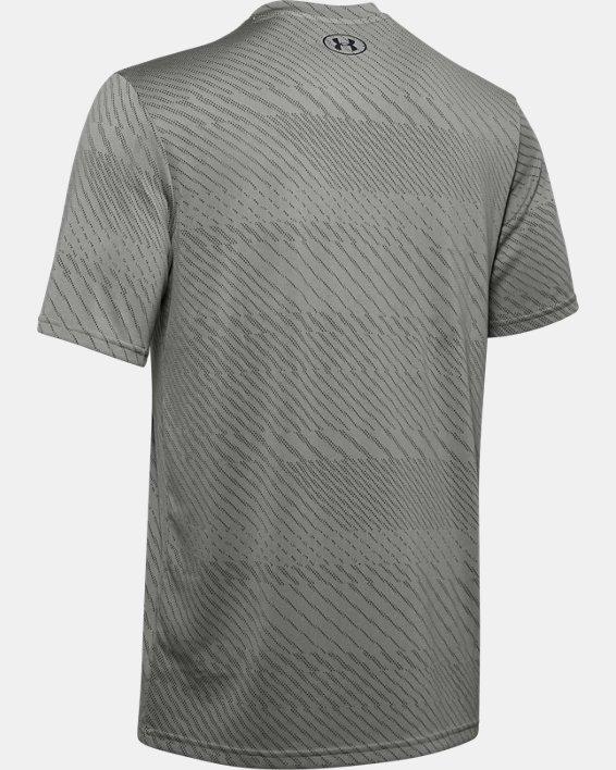 Men's UA Velocity Jacquard V-Neck Short Sleeve, Green, pdpMainDesktop image number 5