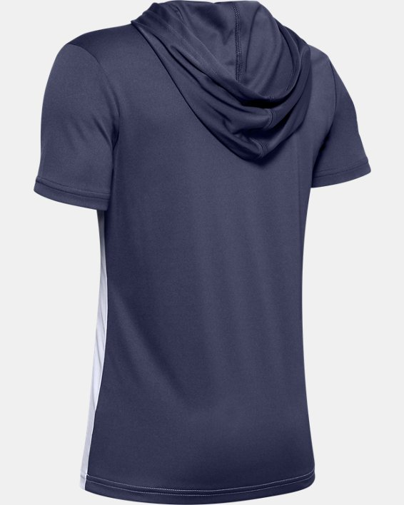 Boys' UA Tech™ Short Sleeve Hoodie, White, pdpMainDesktop image number 1