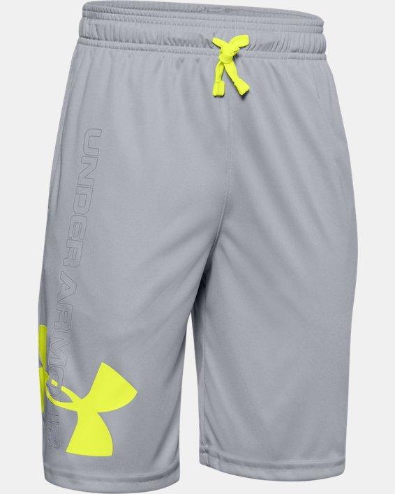 Boys UA Prototype Supersized Shorts, Gray, pdpMainDesktop image number 0