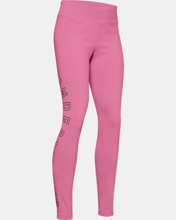 Girls' UA Favorite Leggings, Pink, pdpMainDesktop image number 0
