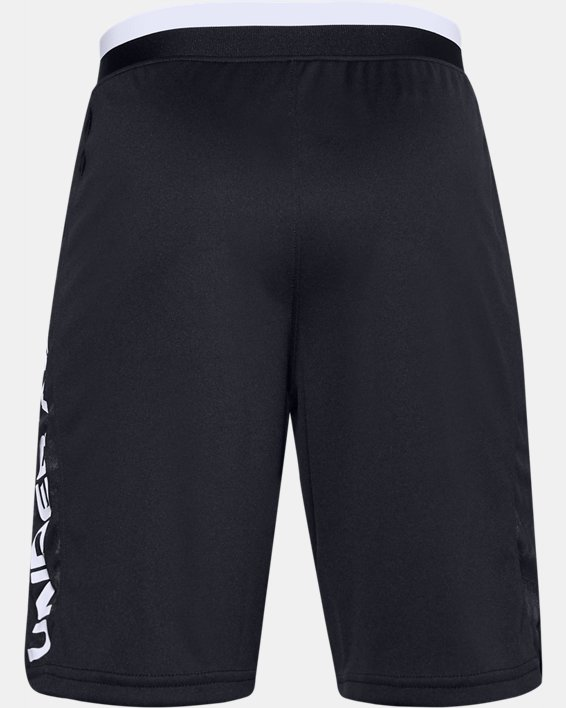 Boys' UA Stunt 2.0 Printed Shorts, Black, pdpMainDesktop image number 1
