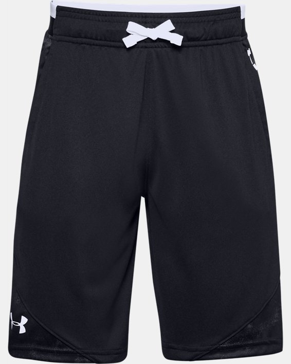 Boys' UA Stunt 2.0 Printed Shorts, Black, pdpMainDesktop image number 0