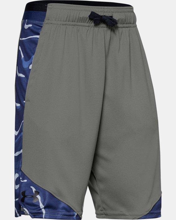 Boys' UA Stunt 2.0 Printed Shorts, Green, pdpMainDesktop image number 0