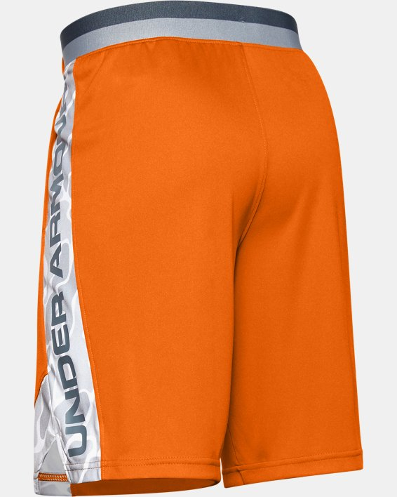 Boys' UA Stunt 2.0 Printed Shorts, Orange, pdpMainDesktop image number 1