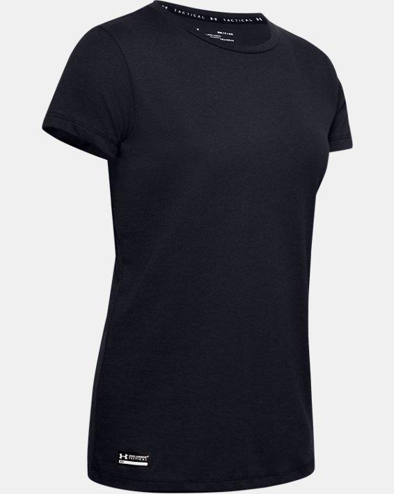 Women's UA Tactical Cotton T-Shirt, Black, pdpMainDesktop image number 4