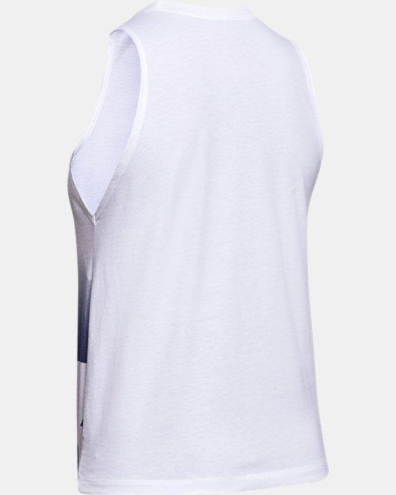Women's UA Graphic Muscle Tank, White, pdpMainDesktop image number 5