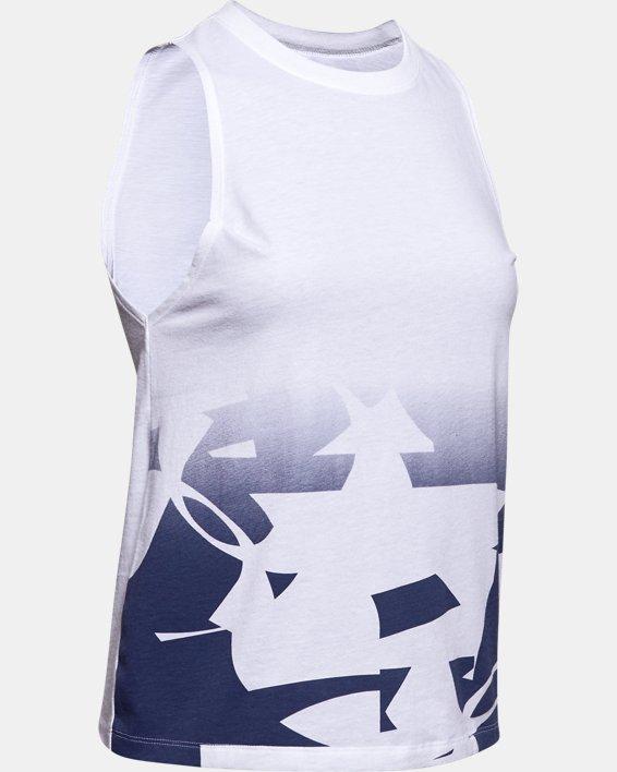 Women's UA Graphic Muscle Tank, White, pdpMainDesktop image number 4