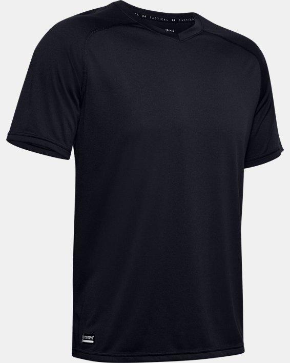 Men's UA Tactical Tech™ V-Neck Short Sleeve, Black, pdpMainDesktop image number 4