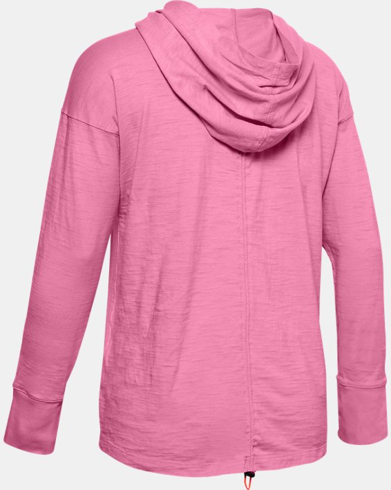 Women's Charged Cotton® Adjustable Hoodie, Pink, pdpMainDesktop image number 4