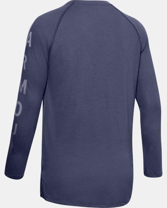 Women's UA Graphic Long Sleeve, Blue, pdpMainDesktop image number 5