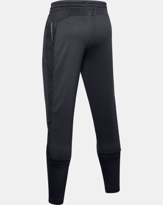 Men's UA Tech™ Terry Tapered Pants, Black, pdpMainDesktop image number 5